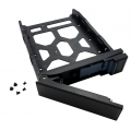 "HDD Tray for 3.5"" and 2.5"" drives without key lock, black, plastic with 6 x screws for 2.5"" HDD, tooless"