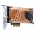 Dual M.2 PCIe SSD expansion card; supports up to two M.2 2280/22110 formfactor M.2 PCIe (Gen3 x4) SSDs; PCIe Gen3 x8 host interface