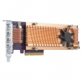 Quad M.2 PCIe SSD expansion card; supports up to four M.2 2280 formfactor M.2 PCIe (Gen3 x4) SSDs; PCIe Gen3 x8 host interface