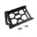 "HDD Tray for 3.5"" and 2.5"" drives without key lock, black, plastic with 6 x screws for 2.5"" HDD & 8 x screws for 3.5"" HDD"