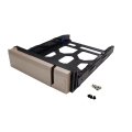 """Gold HDD Tray v1 for 3.5"""" and 2.5"""" drives without key lock, gold, plastic with 6 x screws for 2.5"""" HDD, tooless"""