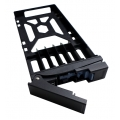 "SSD Tray for 2.5"" drives without key lock, black, plastic , tooless"