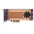 Dual M.2 22110/2280 PCIe SSD expansion card