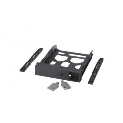 "3.5"" HDD Tray with key lock and two keys, black and plastic, 2.5"" and 3.5"" screw packs included."