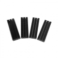 Heatsink for M.2 SSD module; 68*21*10.5 MM; Silver metal; 4PCS.