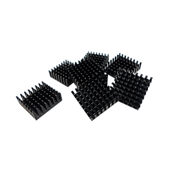 Heatsink for M.2 SSD module,14*14MM, Black, self adhesive. 8 pcs