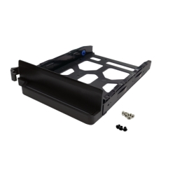 "Black HDD Tray v4 for 3.5"" and 2.5"" drives without key lock, black, plastic with 6 x screws for 2.5"" HDD, tooless"