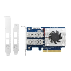 Dual-port SFP+ 10GbE network expansion card; low-profile form factor; PCIe Gen3 x8