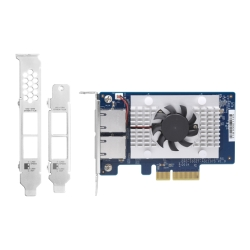 Dual-port BASET 10GbE network expansion card; low-profile form factor; PCIe Gen2 x4