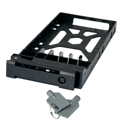 """2.5"""" HDD Tray with key lock and two keys, black and plastic"""
