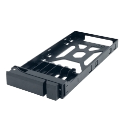 """SSD Tray for 2.5"""" drives without key lock, black, plastic , tooless"""