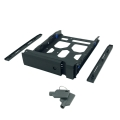 """3.5"""" HDD Tray with key lock and two keys, black and plastic, 2.5"""" and 3.5"""" screw packs included."""