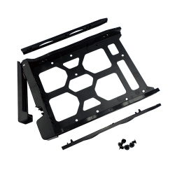 "HDD Tray for 3.5"" and 2.5"" drives without key lock, black, plastic, Tool-less for 3.5"" HDD installation, two fixers included"
