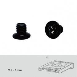 "Screw pack for 2.5"" HDD/SSD intallation, 96 pieces, Flat head machine screw"