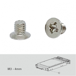 Screw pack for QDA-SA intallation, 96 pieces, Flat head machine screw