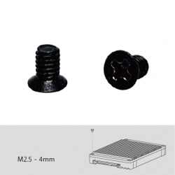 Screw pack for QDA top cover installation, 96 pieces, Flat head machine screw