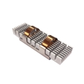 Heatsink for M.2 SSD module;68*19.8*1MM;Dark Green; 2PCS